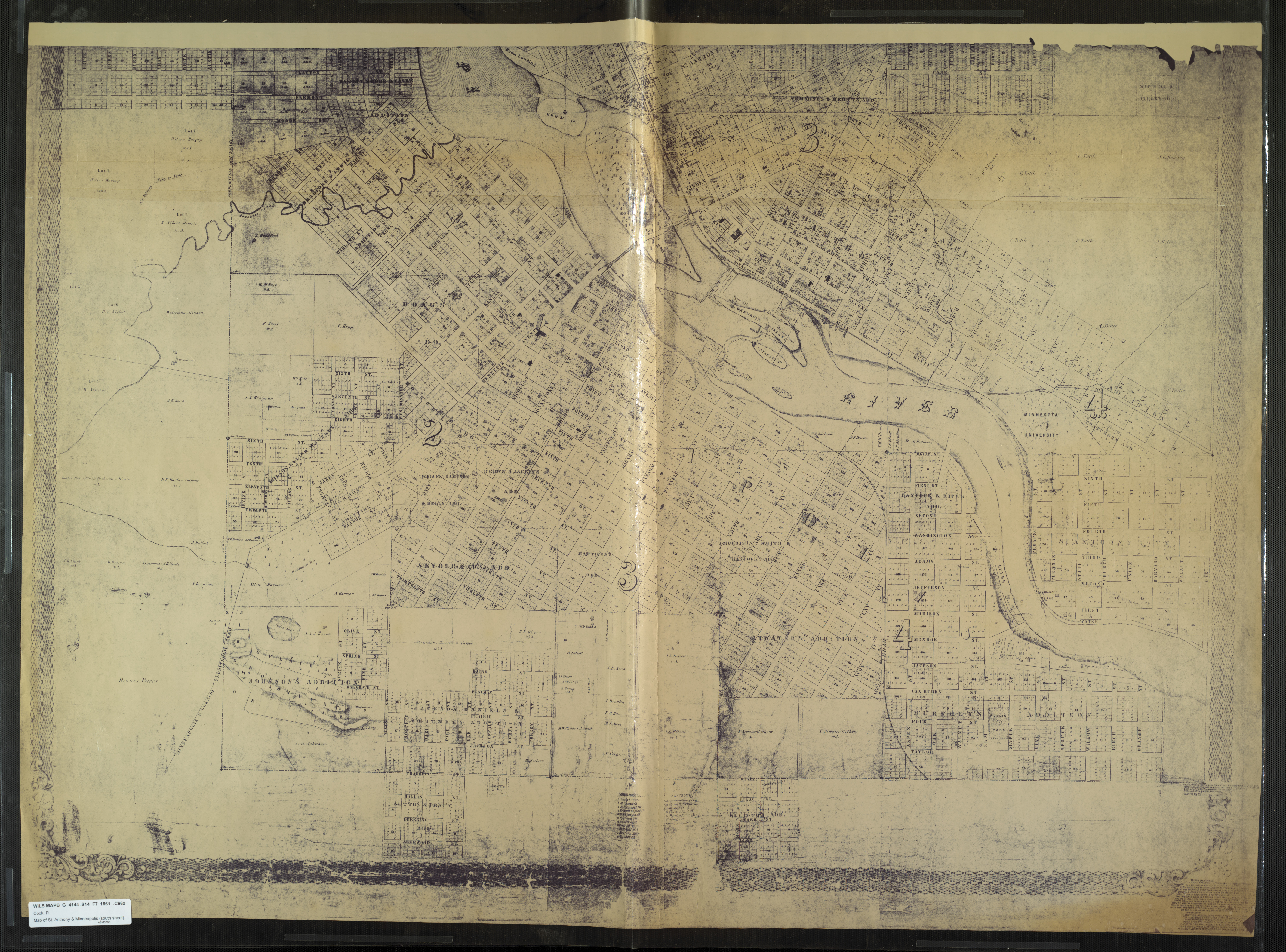 Semmi cico   woody allen szinkronok 459 - 16 1861 Map Of St Anthony And Minneapolis Cook