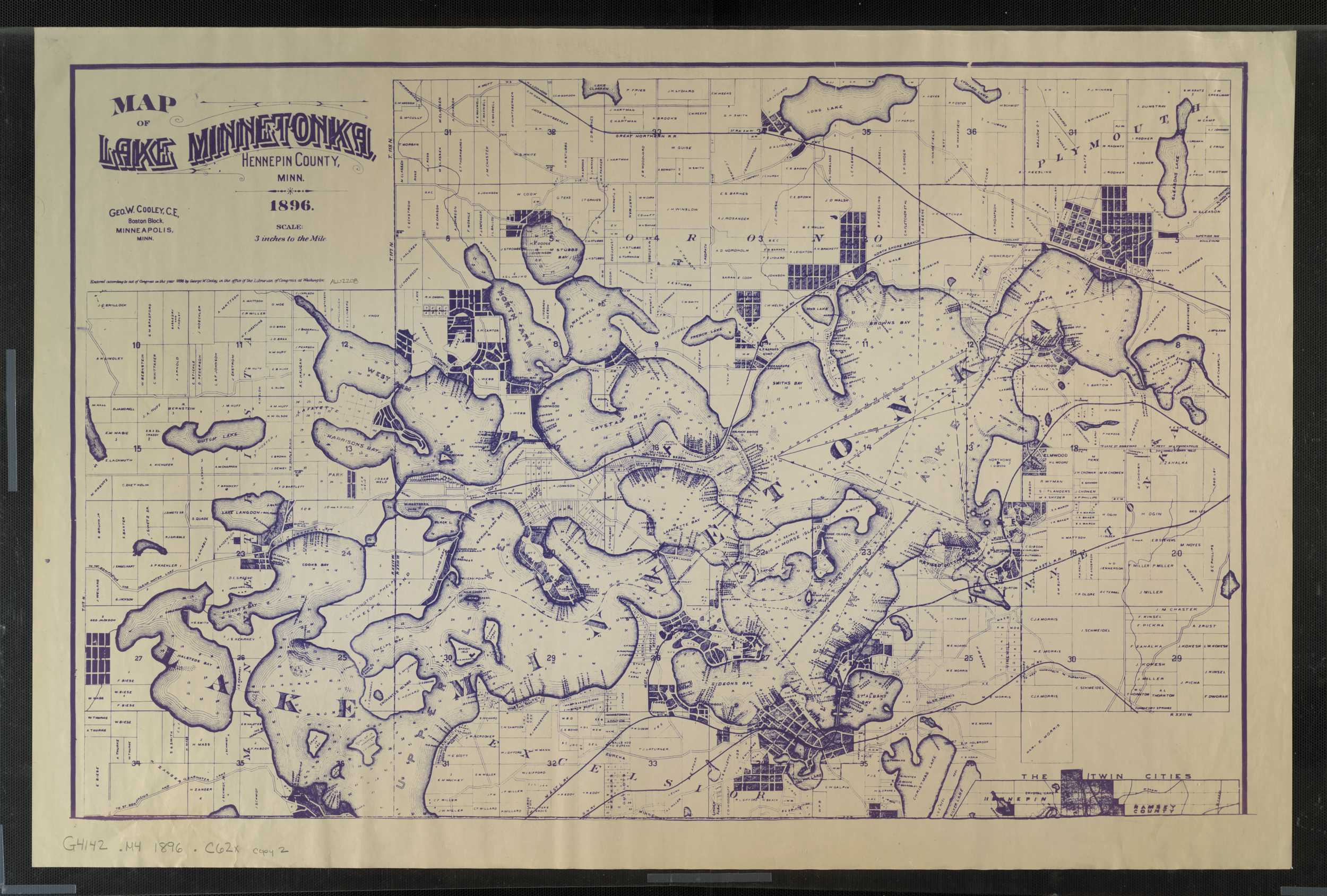 John R Indexed Map Of Lake Minnetonka on